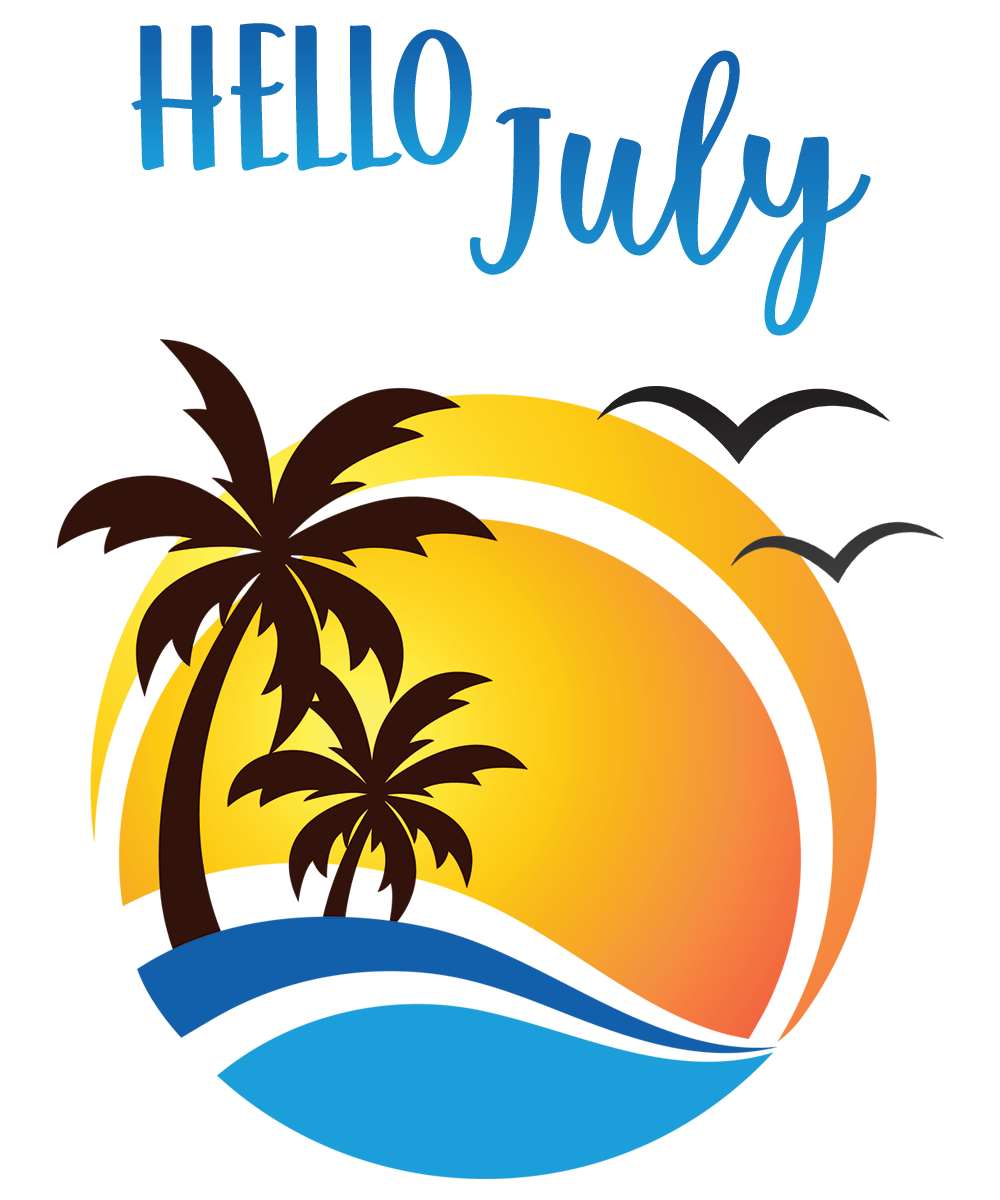 Hello July Digital Month Page @DigiPlannerCentral