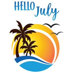 Hello July Digital Planner Sticker | @DigiPlannerCentral