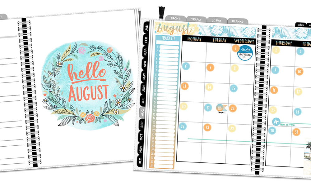 photo about Freebie Planner named August Electronic Planner Freebies! DigiPlanner Central