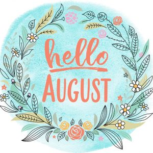Hello August Digital Planner Sticker | @DigiPlannerCentral