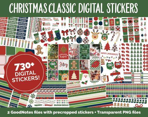 Christmas Digital Planner Sticker Set | @DigiPlannerCentral