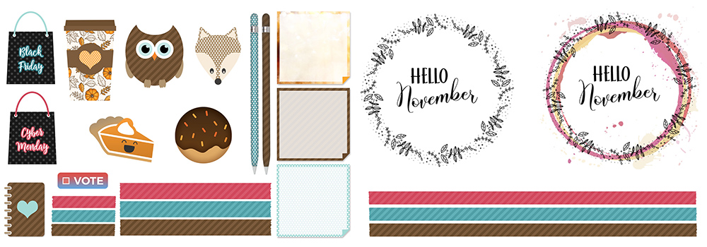 November Digital Planner Freebies