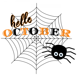 Hello October Digital Planner Sticker
