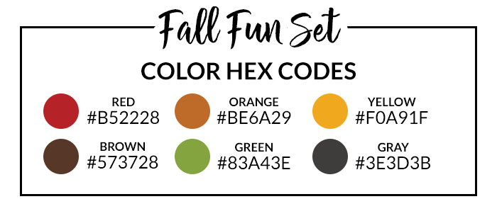 Fall Fun Hex Codes