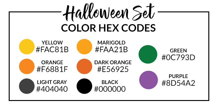 Halloween Hex Codes