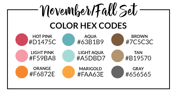November + Fall Hex Codes