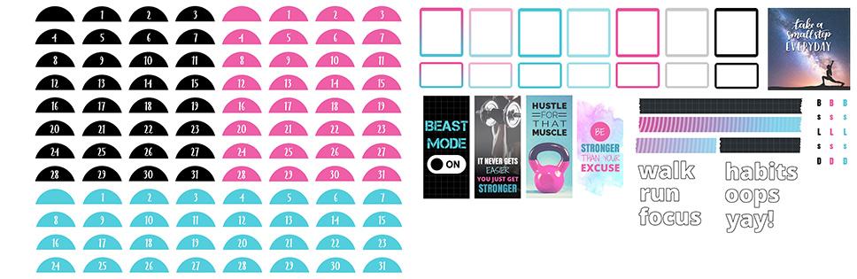 Fitness Digital Sticker Freebies | @DigiPlannerCentral