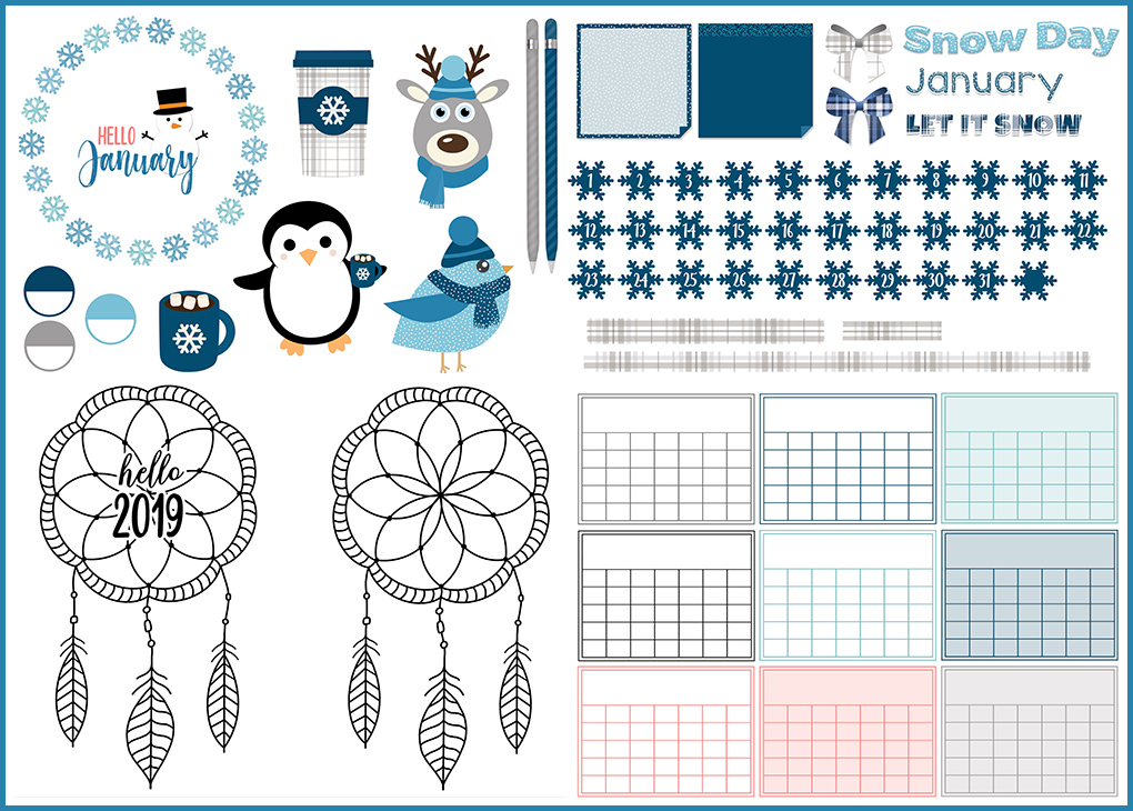 January Digital Planner Freebies | @DigiPlannerCentral