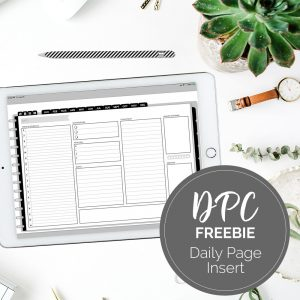 Daily Page Insert for DPC Landscape Digital Planners   @DigiPlannerCentral