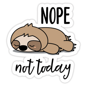 Nope Not Today Digital Planner Sticker | @DigiPlannerCentral