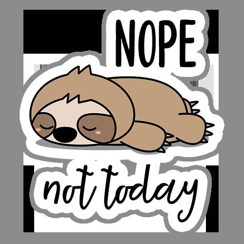 Nope Not Today Digital Planner Sticker | @DigiPlannerCentral