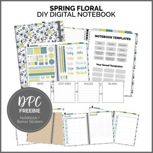 Digital Notebook Freebie - Spring Floral | @DigiPlannerCentral