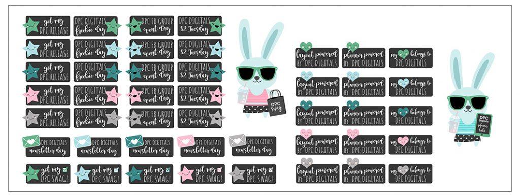 DPC Fan Club Digital Sticker Freebies  | @DPCDigitals
