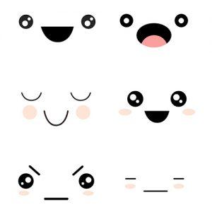 Kawaii Faces Digital Sticker Freebies | @DigiPlannerCentral