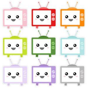 Kawaii TVs Digital Sticker Freebies | @DigiPlannerCentral