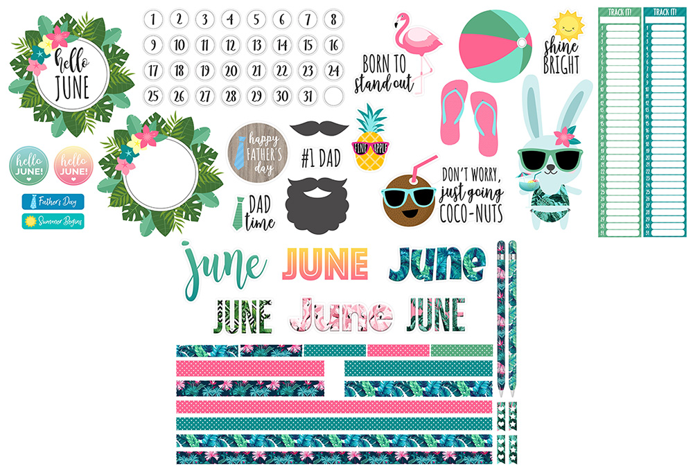 June Digital Planner Sticker Freebies | @DPCDIgitals