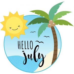 July Digital Planner Sticker Freebies | @DPCDIgitals