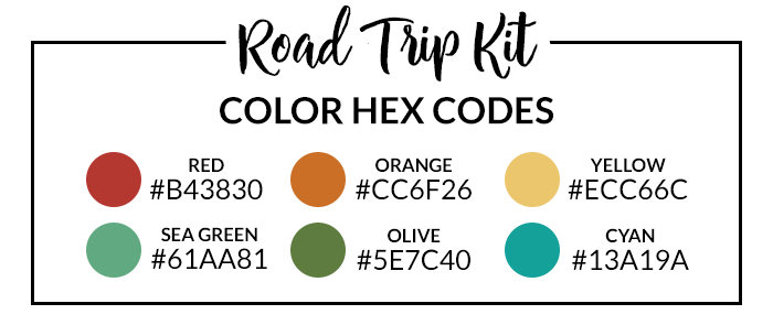 Road Trip Hex Codes