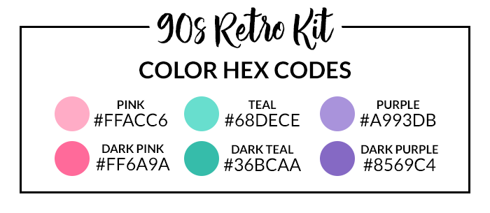 90s Retro Hex Codes