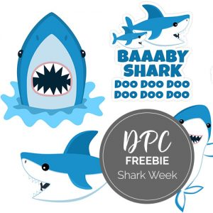 Shark Week Freebie Kit | @DPCDIgitals