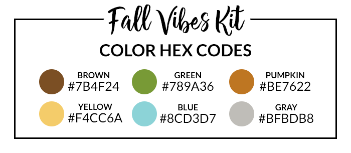 Fall Vibes Hex Codes | @DPCDigitals