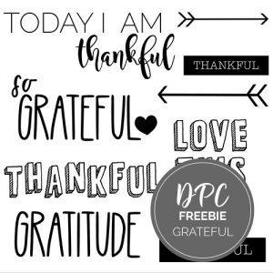Grateful Freebie Digital Stickers | @DPCDigitals