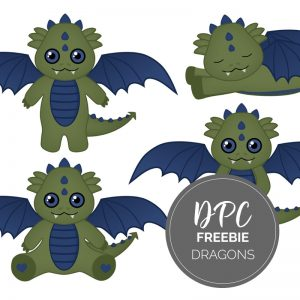 Dragon Digital Stickers Freebie Kit | GoodNotes, iPad, Android | @DPCDIgitals