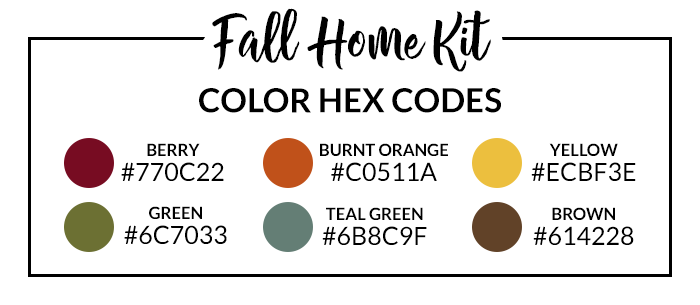 Fall Home Hex Codes