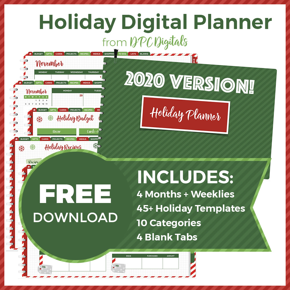 FREE Holiday Digital Planner Download | @DigiPlannerCentral