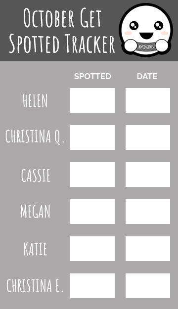 Get Spotted October 2019 Tracker | @DPCDigitals