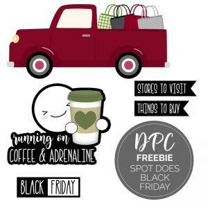Spot Black Friday Freebie Digital Stickers | @DPCDigitals