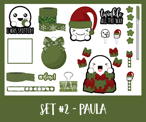Get Spotted Set | December | Green