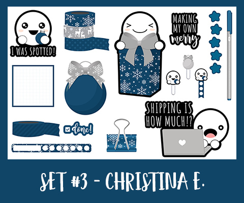 Get Spotted Set | December | Navy