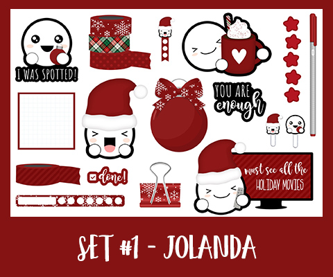 Get Spotted Set | December | Red
