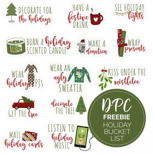 Christmas Bucket List Freebie Digital Sticker Set | @DPCDigitals