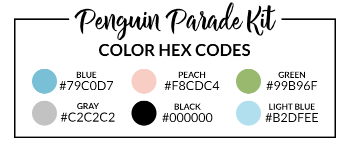 Penguin Parade Hex Codes | @DPCDIgitals