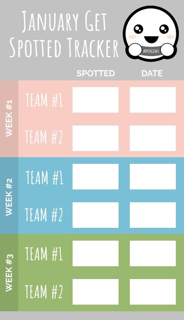 Get Spotted January 2020 Tracker | @DPCDigitals