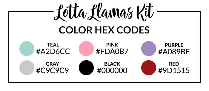 Llamas Hex Codes