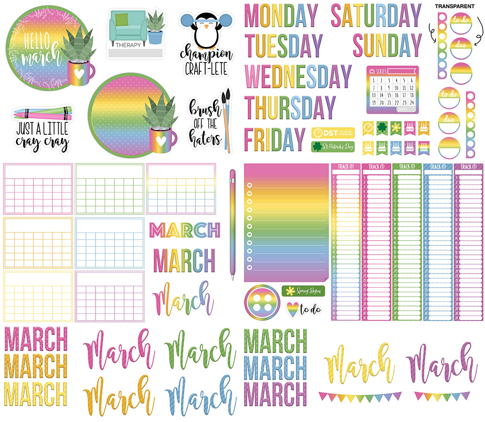 DPC Digitals March Freebie Sticker Set