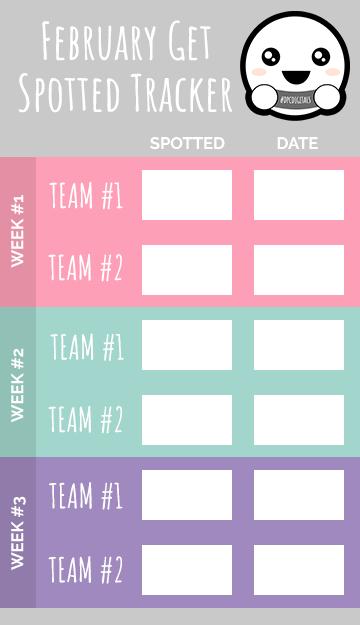 Get Spotted February 2020 Tracker | @DPCDigitals