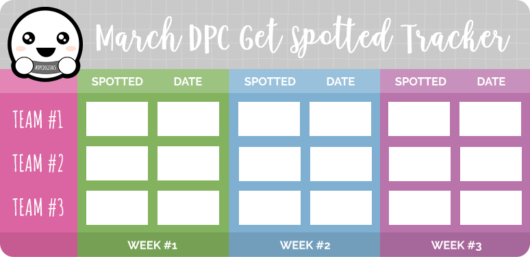 Get Spotted March 2020 Tracker | @DPCDigitals