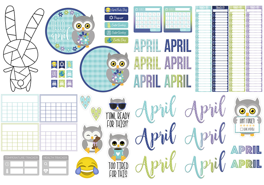 DPC Digitals April Freebie Sticker Set