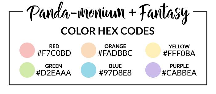Panda & Fantasy Hex Codes