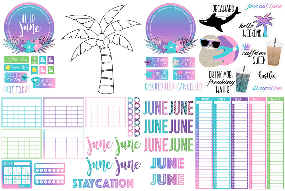 DPC Digitals June Freebie Sticker Set
