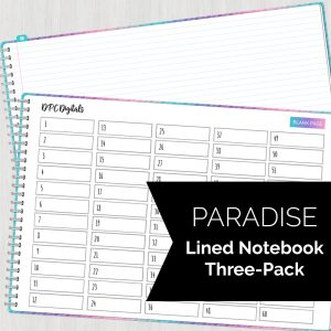 Digital Lined Notebok Freebie Three-Pack | @DPCDigitals