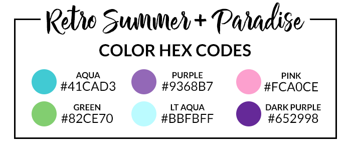 Paradise Retro Summer Hex Codes