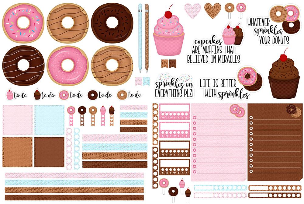 Sprinkles Digital Sticker Freebie | @DPCDigitals