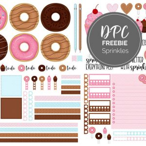 Sprinkles Digital Sticker Freebie | @DPCDigitals