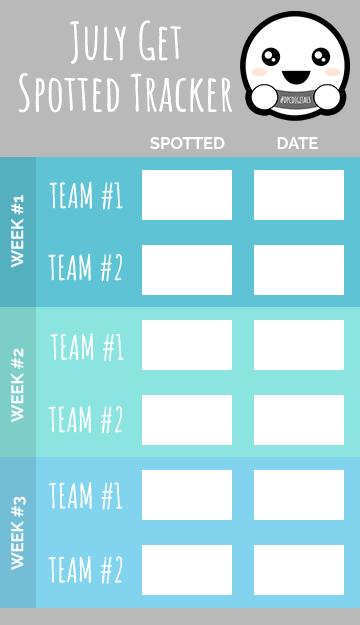 Get Spotted July 2020 Tracker | @DPCDigitals