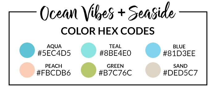 Seaside Hex Codes